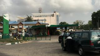 Empty filling station for Ikoyi, Lagos before christmas