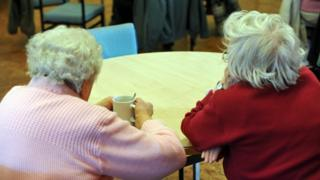 Elderly women at a day care centre