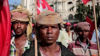 दिल्ली में किसानों का प्रदर्शन