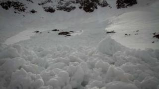 Avalanche debris at Lochnagar