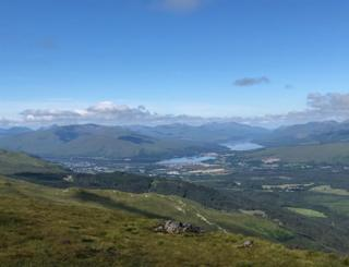 the Nevis mountain gondola - looking across to Loch Linnhe and Loch Eil