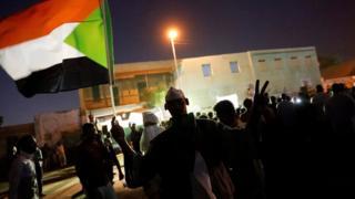 Protesters in Khartoum, 21 April