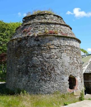 Medieval dovecote on the dig site near Llangwm