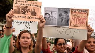 Une manifestation contre les agressions sexuelles, à Casablanca (Maroc), en août 2017.