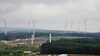 A photo of Pen-y-Cymoedd wind farm