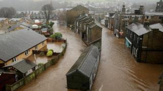 Flooding in Mytholmroyd