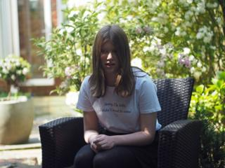 Phoebe in her garden