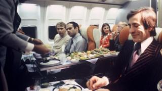 Retro airline food