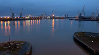 King George Docks in Hull