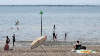 Social distancing at Southend-on-Sea
