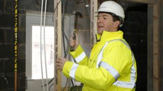 George Osborne visits a housing development in Cheshire