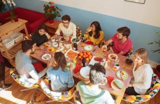 Dinner table scene