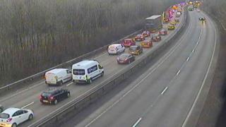 Traffic jam on A4232