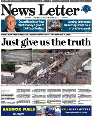 Front page of the News Letter on Wednesday
