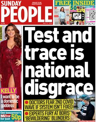 The Sunday People front page 31 May