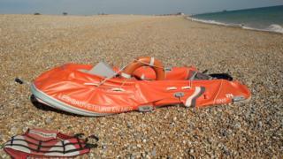 Dinghy found on Walmer beach