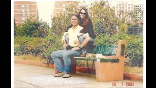 Foto de Mário César Levy com a companheira