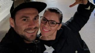 Cristea ve erkek arkadaşı Andrei Burnaz