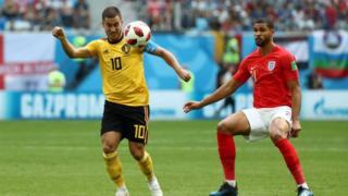 बेल्जियम र इंग्ल्याण्डको खेल