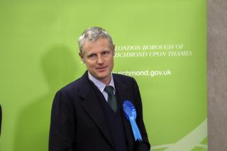 Zac Goldsmith at the Richmond Park count