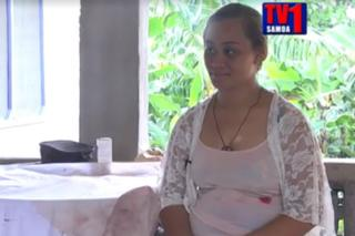 Screenshot of TV1 Samoa report on a case of stigmata
