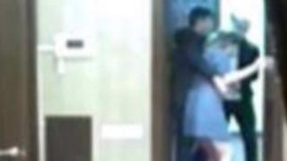 An image taken by Gulnara Karimova's daughter shows her being removed from her flat