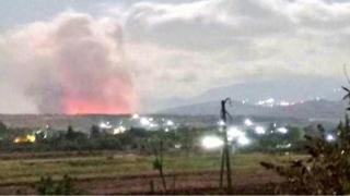 حمله هواپیماهای اسرائیل به یک 'کارخانه ساخت سلاح های شیمیایی' در سوریه