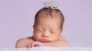 Baby with a crown
