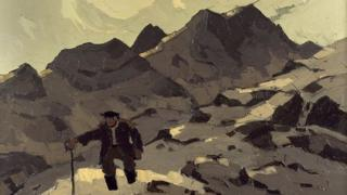 Image of Farmer on the Mountain - Sir Kyffin Williams