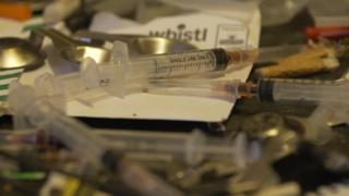 Used syringes