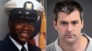 Motorist Walter Scott (L) is seen in this composite photo with former South Carolina officer Michael Slager (R).