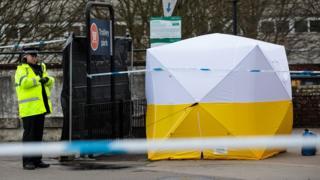 Escena donde el exespía fue envenenado en Salisbury.