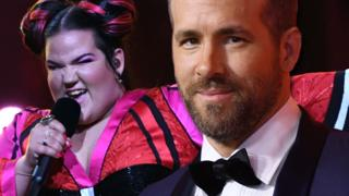 composite of Netta from eurovision and ryan reynolds