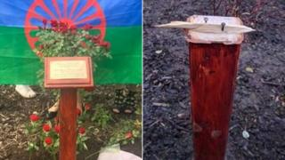 Plinth to replace vandalised Holocaust rose tree in Glasgow