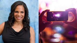Audra McDonald and a smartphone