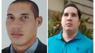 À esquerda, Rodrigo Vaz, antes; à direita, depois