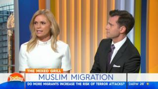 Ms Kruger and a co-host David Campbell on the Today show