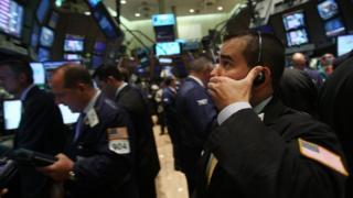 Bolsa de NY no dia em que o Lehman Brothers faliu, em 2008