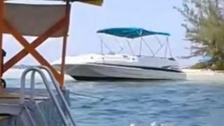 Boat involved in crash