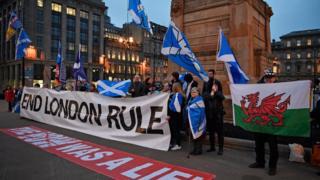 格拉斯哥支持蘇格蘭獨立的示威