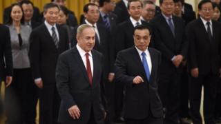內塔尼亞胡與李克強舉行會晤