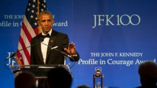 Barack Obama ödül töreni konuşması