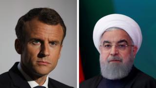 French President Emmanuel Macron and Iranian President Hassan Rohani