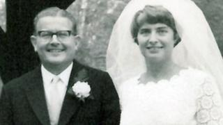 Gloria Foster on her wedding day in 1980