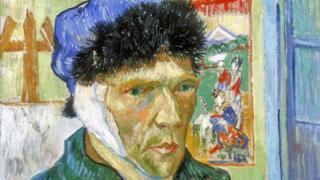 Vincent van Gogh, autorretrato con venda en la oreja