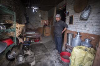 Shamsher Magar at home