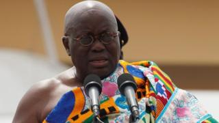 science Ghana's President Nana Akufo-Addo speaks during his swearing-in ceremony at Independence Square in Accra, Ghana January 7, 2017.