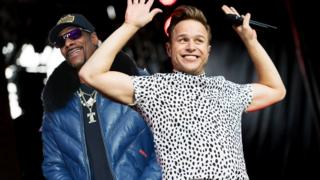 Snoop Dogg and Ollie Murs.