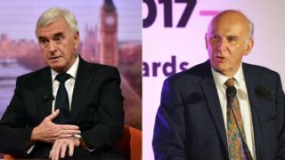 John McDonnell and Vince Cable