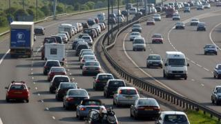 Picture of traffic on the M5 near Bristol